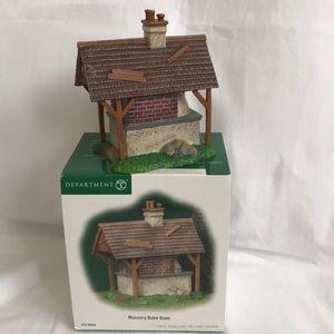 "Dept. 56- New England Village- ""Masonry Bake Oven"""